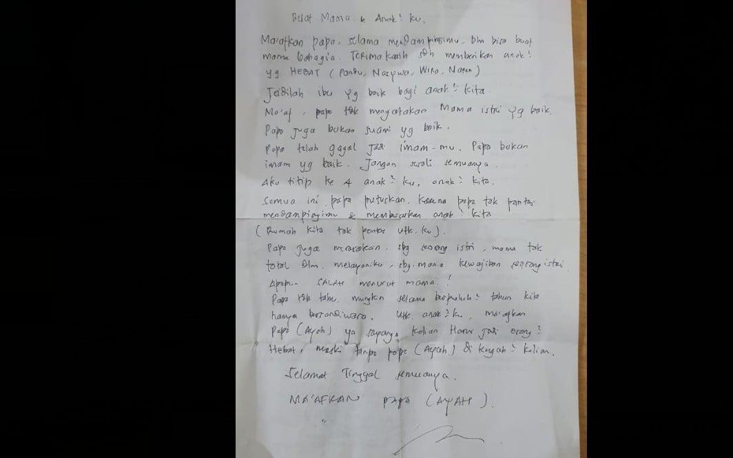 Menyedihkan, Ini Isi Surat Wasiat Anggota TNI yang Loncat dari Jembatan Suramadu - JPNN.com Jatim