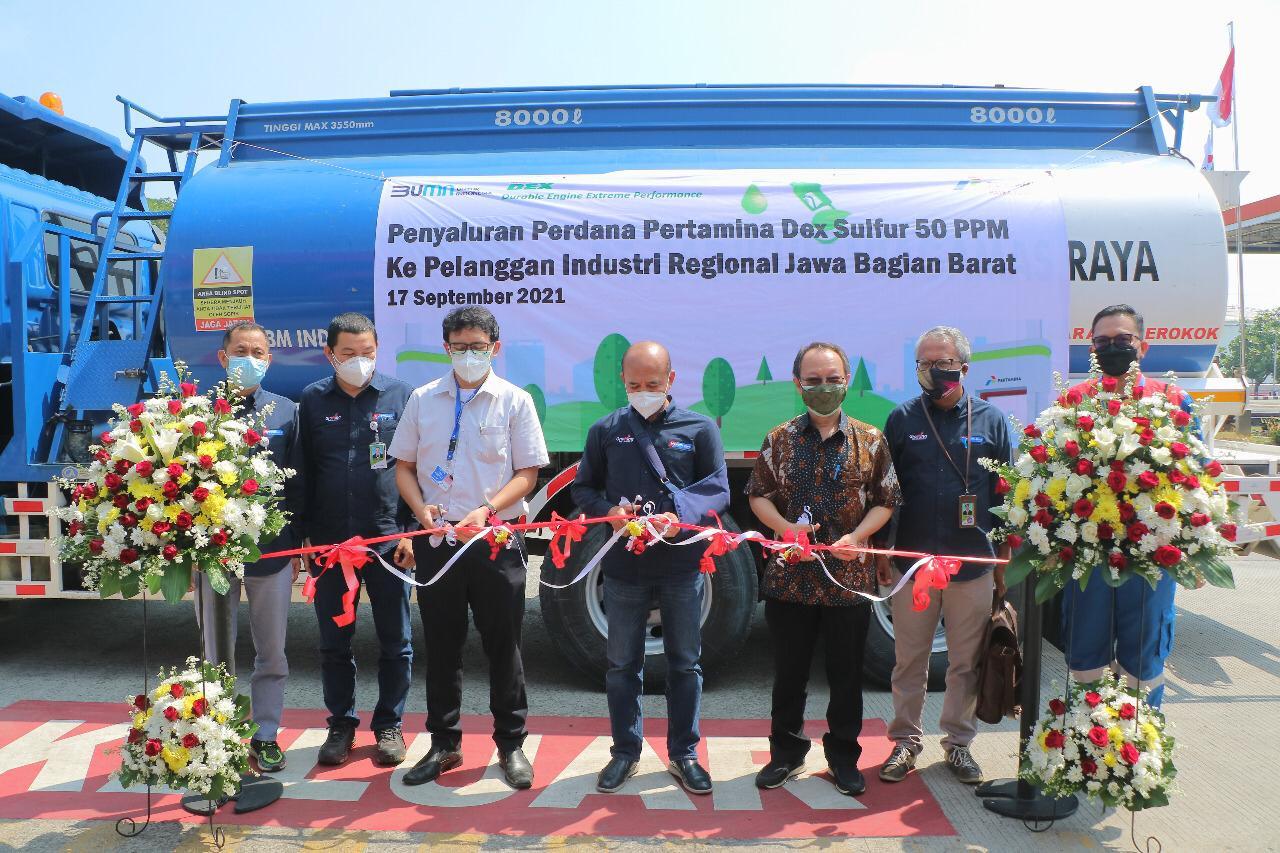 Perdana di Indonesia, Pertamina Salurkan BBM Dex 50 PPM