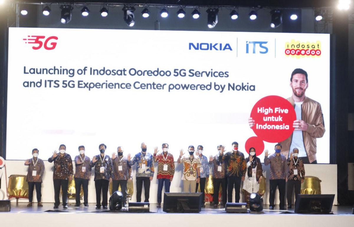 Nokia dan Indosat Ooredoo Luncurkan Jaringan 5G di Surabaya