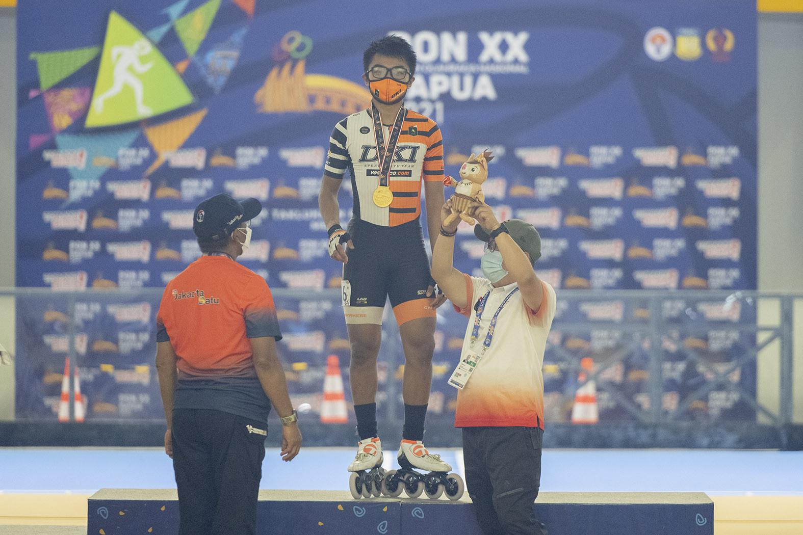 DKI Jakarta Sabet Dua Medali Emas PON Papua 2021 dari Cabor Sepatu Roda