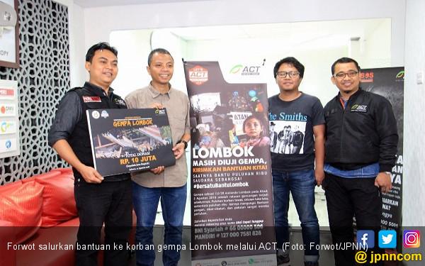 Aksi Solidaritas Forwot Bantu Korban Gempa Lombok - JPNN.com