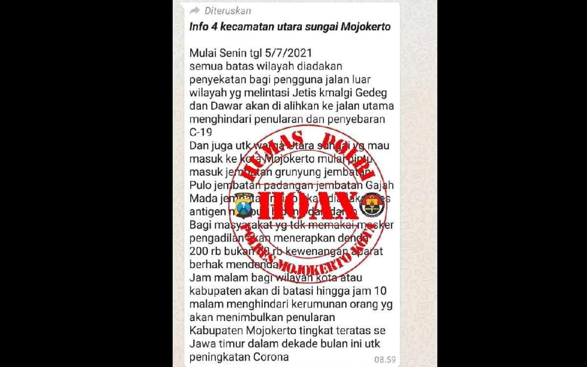 Beredar Pesan Tak Pakai Masker Bakal Didenda Rp200 ribu, Ini kata Kapolres - JPNN.com
