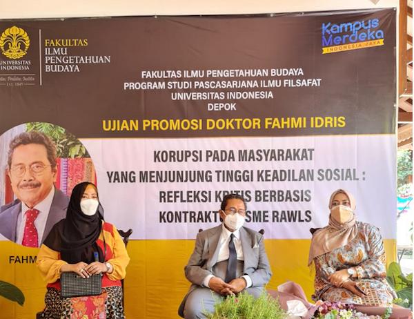 Raih Gelar Doktor, Fahmi Idris Urai Strategi Pencegahan Korupsi - JPNN.com