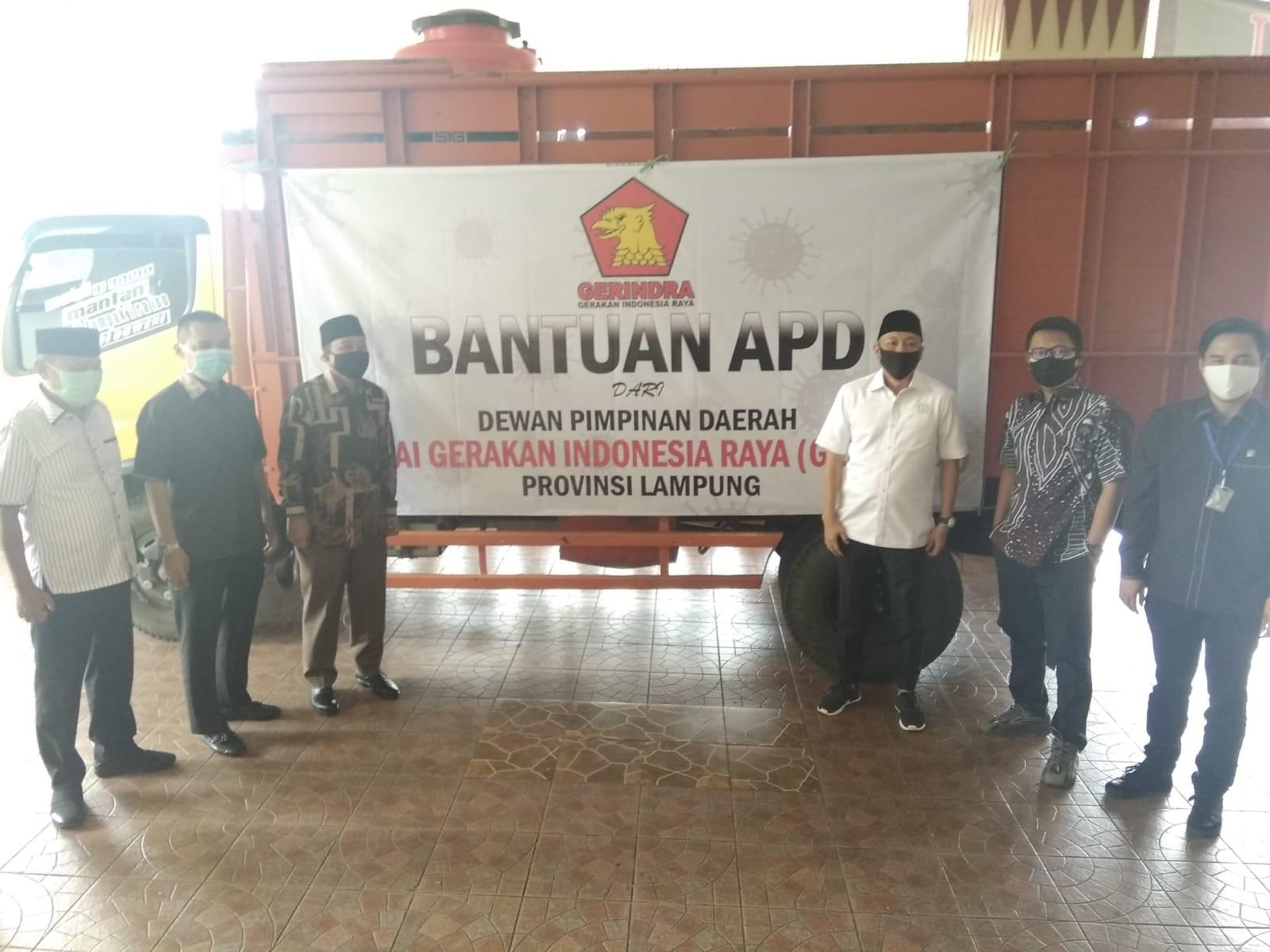 Bantu Pemprov Tangani Pandemi, Partai Gerindra Diapresiasi Gubernur Arinal